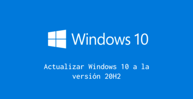 Actualizar Windows 10 20H2