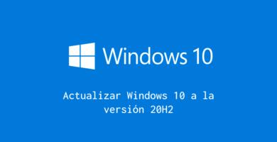 Actualizar Windows 10 20H2