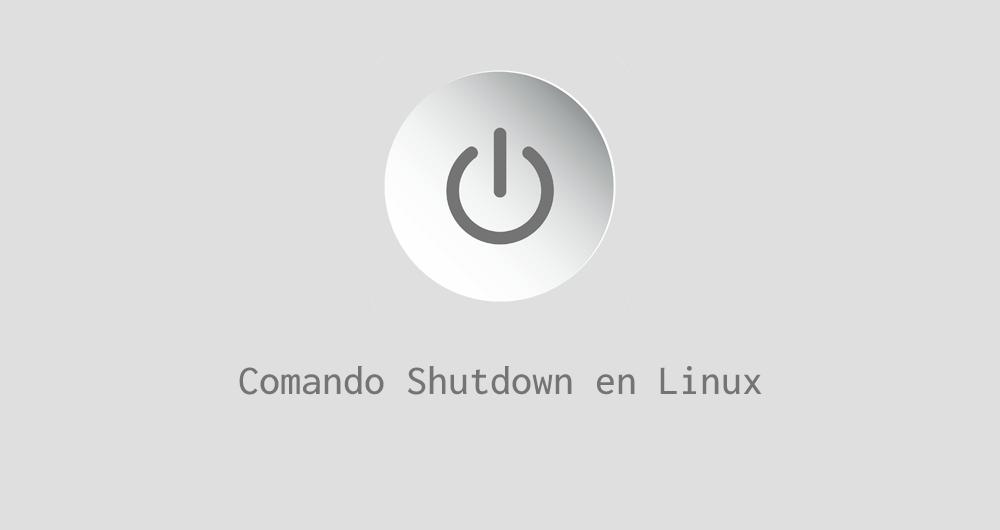 Comando shutdown apagar o reiniciar linux