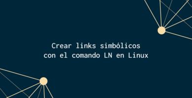 crear links simbólicos comando LN linux