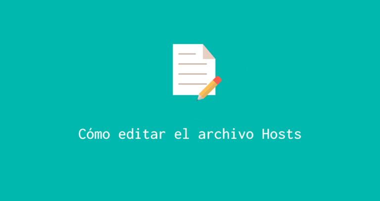 Editar archivo Hosts
