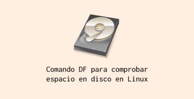 Comprobar espacio en disco duro linux con el comando DF