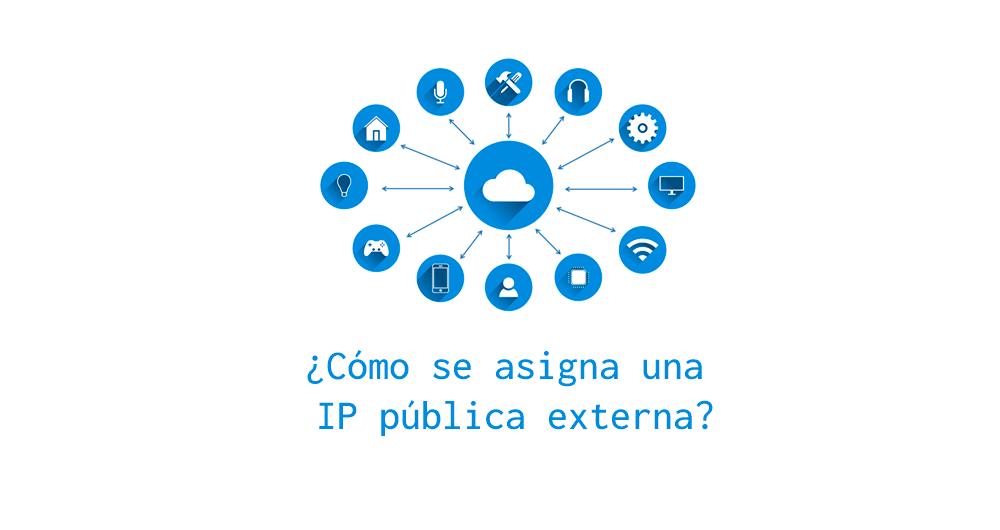 Cómo se asigna una ip pública o externa en el router