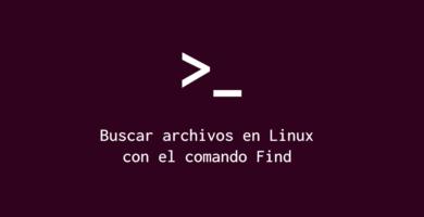 Buscar archivos y carpetas con el comando find en linux