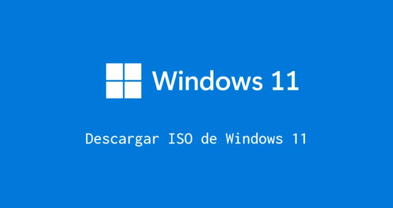 Descargar ISO de Windows 11